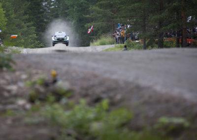 Ruuhimäen Shakedownilla ravistellaan autoa 27.7.2017.Nesteralli,Jyväskylä.