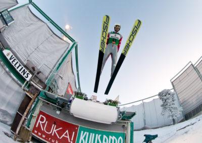 Maxime Laheurte yhdistetyn mäessä Ruka Nordicissa 25.11.2016. Ruka, Kuusamo