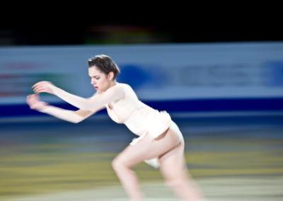 Evgenia Medvedeva taitoluistelun MM-kilpailuiden loppunäytöksessä 2.4.2017. Hartwall Areena, Helsinki