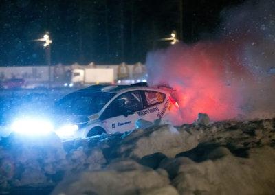 Jani Paasonen / Mika Rajasalo raviradalla 16.2.2018. Vaakunaralli, Mikkeli.
