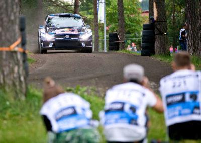 Sebastien Ogier / Julien Ingrassia Harjulla 28.7.2016. Nesteralli, Jyväskylä.