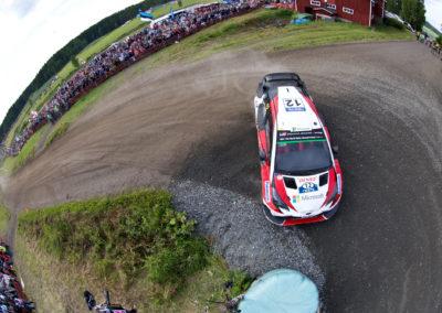 Esapekka Lappi / Janne Ferm vauhdissa Ouninpohjassa 29.7.2017. Nesteralli, Jyväskylä.