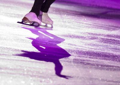 Vanessa James taitoluistelun MM-kilpailuiden loppunäytöksessä 2.4.2017. Hartwall Areena, Helsinki