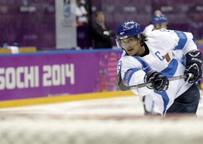 Teemu Selänne Sotshin olympialaisissa 22.2.2014.