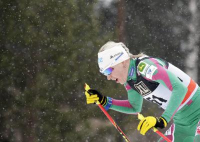 Kaisa Mäkäräinen osallistui 10km hiihtoon Salpausselän kisoissa 2.3.2014. Lahti