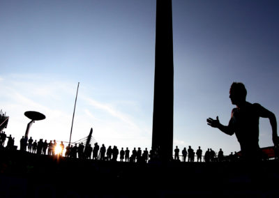 Otto Ylöstalo 10-ottelun 400m juoksussa Yleisurheilun U23 EM-kilpailuissa 11.7.2013. Ratina, Tampere.