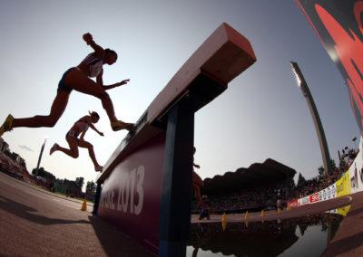 Naisten 300m esteet Yleisurheilun U23 EM-kilpailuissa 13.7.2013. Ratina, Tampere.
