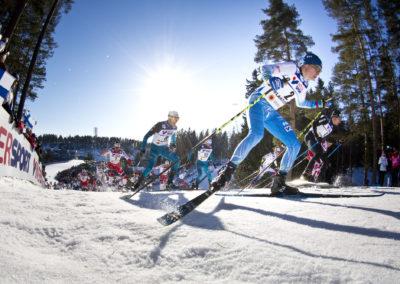 Matti Heikkinen 50km vapaalla MM-Lahdessa 5.3.2017. Salpausselkä, Lahti.