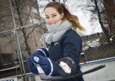 Susanna Tapani poseerasi ulkojäällä 25.1.2018. Turku.