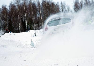 Arttu Lähdeniemi / Aki Suutarinen Ford Fiesta R2 Oskolassa 3.3.2018. Itäralli, Joensuu