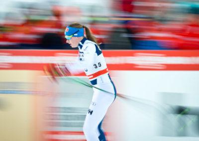 Johanna Matintalo vauhdissa 10 km hiihdossa Ruka Nordicissa 26.11.2017.  Ruka, Kuusamo.