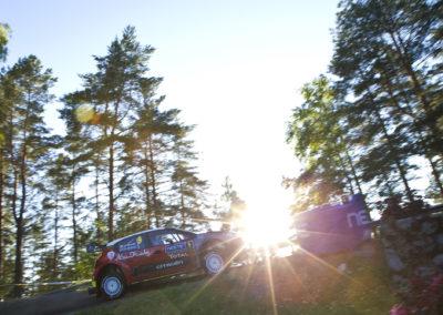 Craig Breen / Scott Martin kiipee Harjulle 27.7.2017. Nesteralli, Jyväskylä.