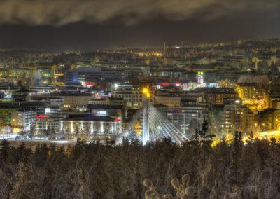Rovaniemi yöllä 25.1.2015.