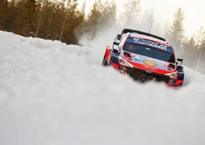 Ott Tänak / Martin Järveoja EK6 Mustalampi 2, Arctic Rally Finland, MM-ralli Rovaniemi 27.2.2021