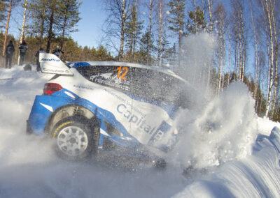 Janne Tuohino / Reeta Hämäläinen EK4 Kaihuavaara 1 Arctic Rally Finland, MM-ralli Rovaniemi 27.2.2021.